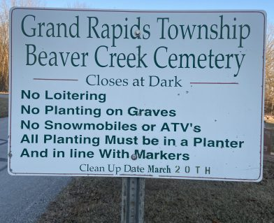 Cemetery Rules